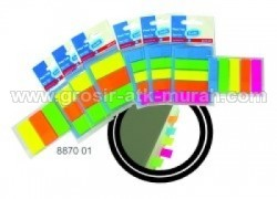 Bantex Flexi Tab 5 Neon Colors 12 x 45mm - 8870